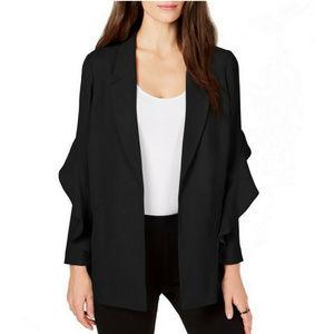 Alfani NWT Black Flounce Sleeve Jacket Blazer
